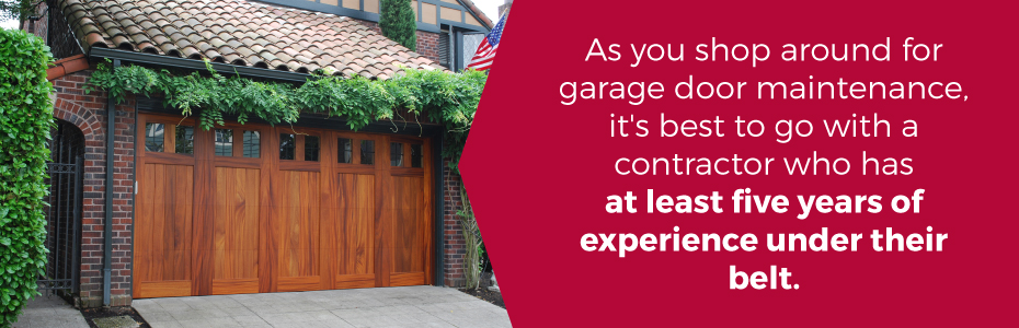 5 years garage door experience