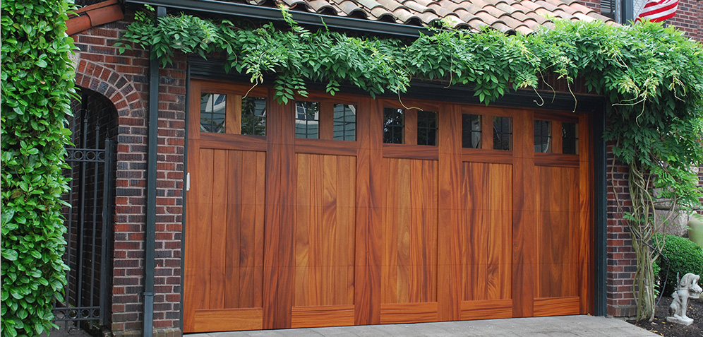 residential custom wood garage door
