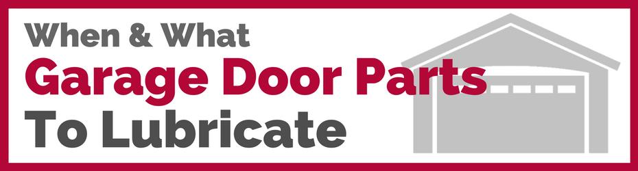 Tips On Garage Door Parts To Lubricate Tf Draper Portland